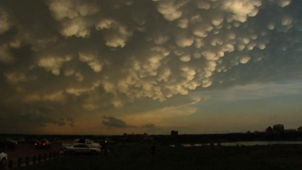 """(Photo courtesy of CBC.CA) <br> <br> <a href=""""http://www.cbc.ca/news/canada/saskatchewan/story/2012/06/26/sk-post-storm-sky-120626.html"""" rel=""""nofollow noopener"""" target=""""_blank"""" data-ylk=""""slk:Click here"""" class=""""link rapid-noclick-resp"""">Click here</a> for full story on CBC News"""
