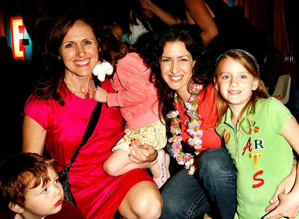 """Molly Shannon (""""SNL"""") and Joely Fisher (""""'Til Death"""") pose with their precious kids. Donato Sardella/<a href=""""http://www.wireimage.com"""" target=""""new"""">WireImage.com</a> - November 4, 2007"""