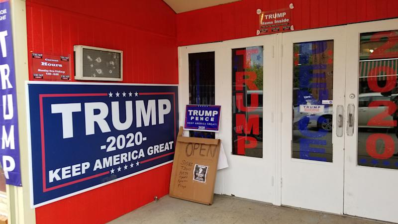 A Trump campaign office