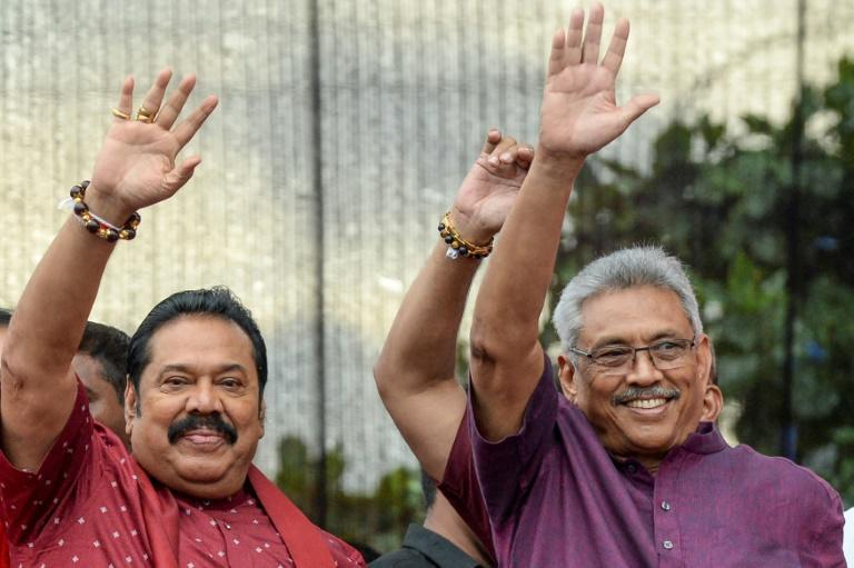 Sri Lanka's new President Gotabaya Rajapaksa (R) has named his older brother and former president Mahinda (L) as prime minister - pictured here in 2019