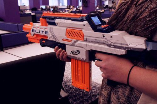 ... makes replica video game weapons. Unlike other ones that just look  nice, though, he goes the extra mile and has them functioning as actual NERF  guns.