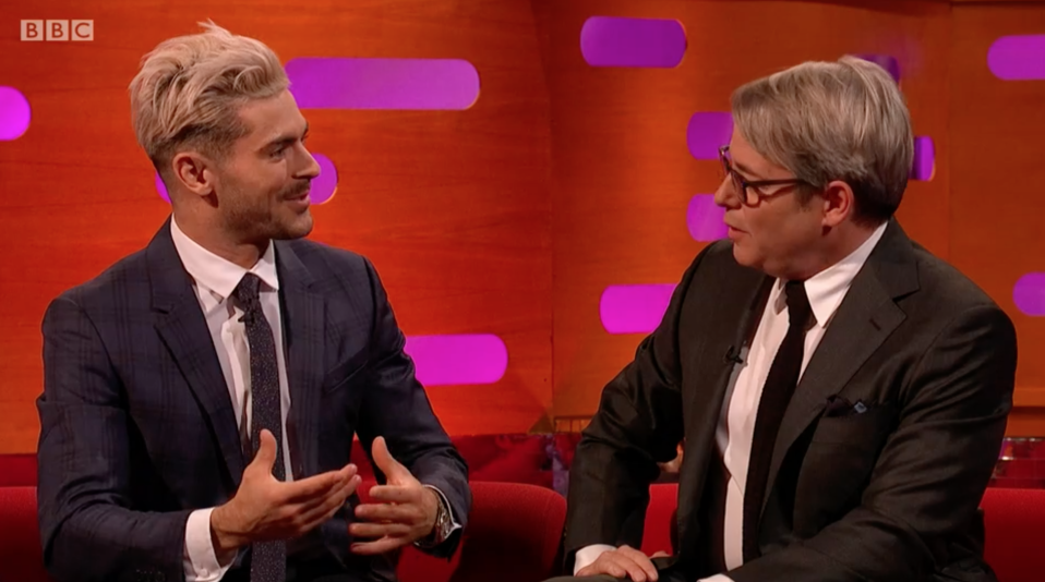 Zac Efron reveals to Matthew Broderick how Ferris Bueller influenced his career on Graham Norton