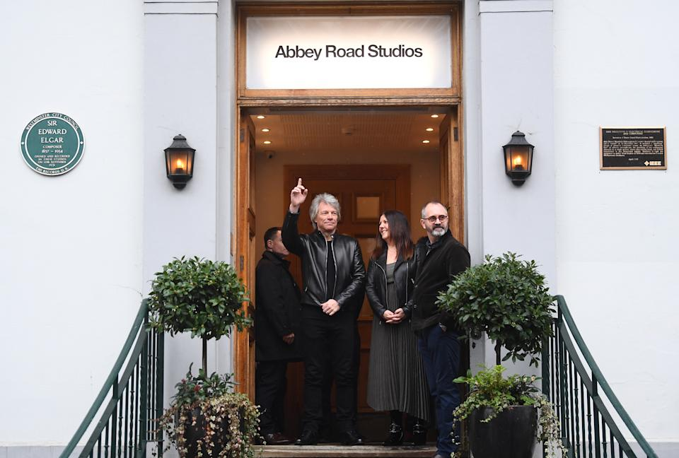 Jon Bon Jovi awaits the arrival of the Duke of Sussex at the Abbey Road Studios in London where they will meet members of the Invictus Games Choir. PA Photo. Picture date: Friday February 28, 2020. They are recording a special single in aid of the Invictus Games Foundation. See PA story ROYAL Sussex. Photo credit should read: Victoria Jones/PA Wire