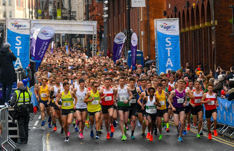 Official sports body UK Athletics said it would not recognise times because the route was too short (Picture: SWNS)