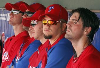 Pictured here in spring training, the Phillies' starting rotation posted a league-best 2.86 ERA in 2011, the lowest MLB total in a quarter-century