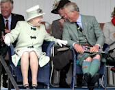 <p>A few months later, the Queen and Prince Charles had a smilier exchange as they shared a giggle at the 2010 Highland Games in Braemar, Scotland.</p>