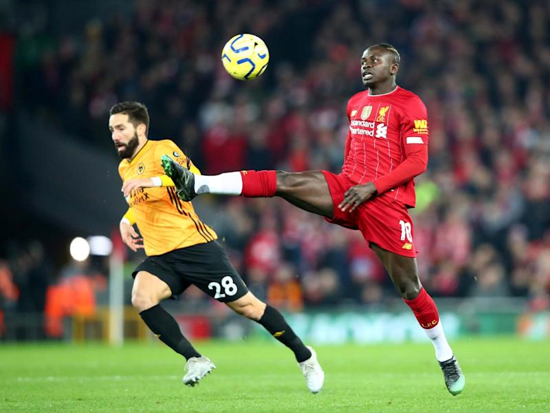 Sadio Mane of Liverpool controls the ball: Getty Images