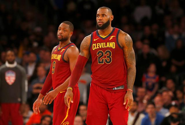 Dwyane Wade and LeBron James were eager to play together again. (Getty)