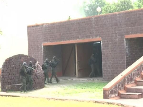 A visual from an anti-terror mock drill in Bhopal. [Photo/ANI]