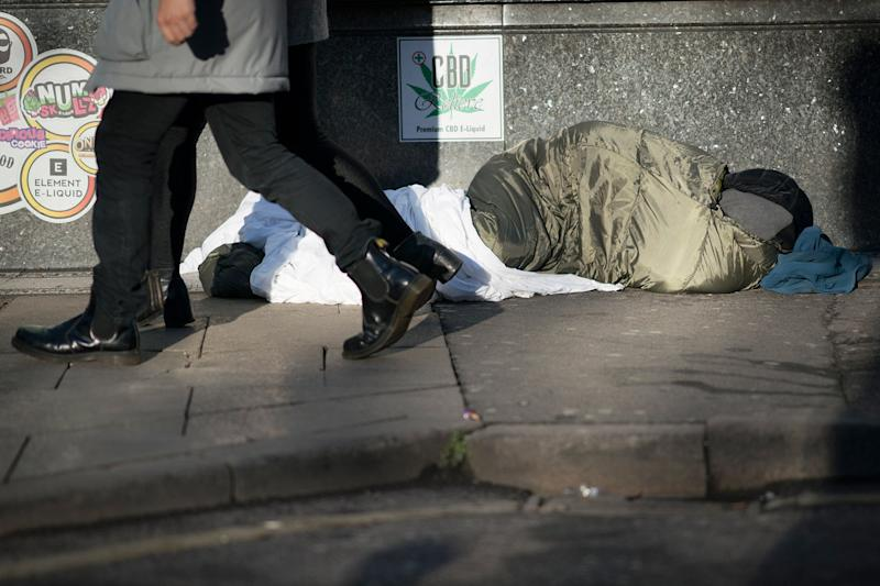 Help: Rough sleepers need more than compassion, they need support services to help get them off the streets for good: Getty Images