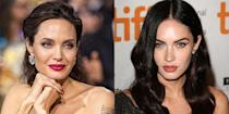 <p>When Megan Fox arrived in Hollywood, people dubbed her the next Angelina Jolie. It's very visible, as both have hazel, almond-shaped eyes, square chins, and full lips. <br></p>