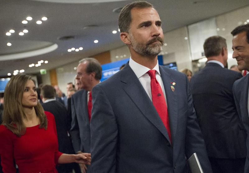 Spain's Crown Prince Felipe and and Princess Letizia leave after Madrid's 2020 final presentation in 125 IOC session in Buenos Aires, Argentina, Saturday, Sept. 7, 2013. Later, Madrid was eliminated as a host city for the 2020 Olympics, leaving Tokyo and Istanbul to advance to the final round. Madrid initially tied with Istanbul as an also-ran in the voting by the International Olympic Committee. Istanbul won the tiebreak vote 49-45. The winner will now be determined in a second-round vote between the Japanese and Turkish cities.(AP Photo/Ivan Fernandez)
