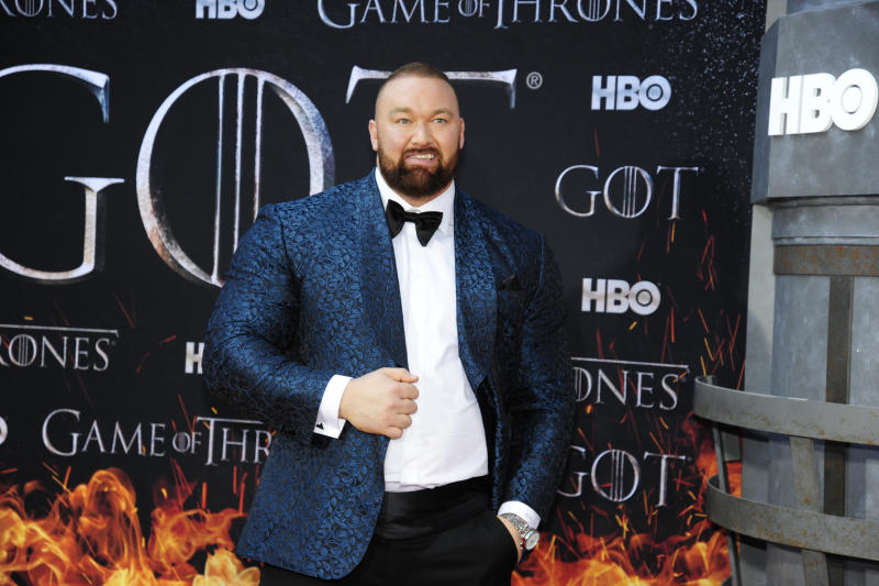"""NEW YORK, NY - APRIL 3: Hafþór Júlíus Björnsson attends """"Game Of Thrones"""" New York Premiere at Radio City Music Hall, NYC on April 3, 2019 in New York City. (Photo by Paul Bruinooge/Patrick McMullan via Getty Images)"""