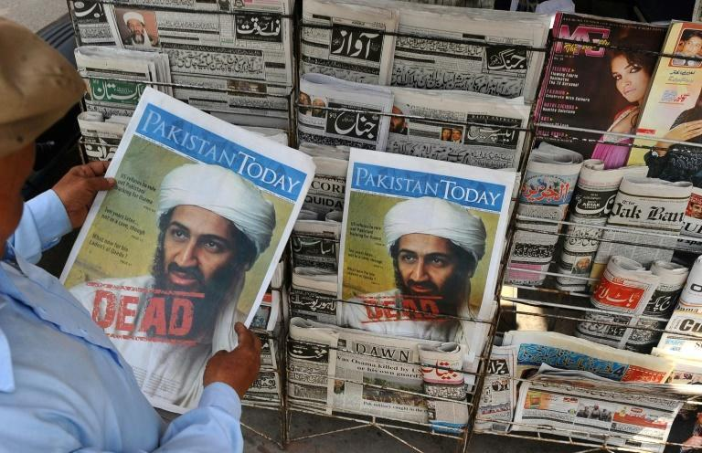 A Pakistani newspaper from May 3, 2011, a day after Osama bin Laden was killed; his family in Saudi Arabia had already disowned and distanced themselves from him in 1994