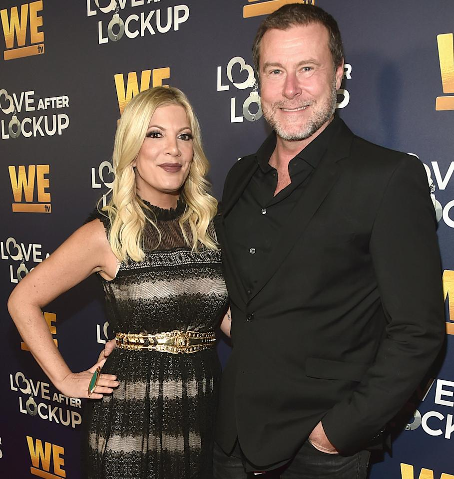 """During an episode of his podcast, <em>Daddy Issues</em>, McDermott shared that he and Spelling use an """"amazing"""" and """"fantastic"""" <a href=""""https://people.com/tv/dean-mcdermott-tori-spelling-use-cbd-lube-for-sex/"""">CBD lube</a> and that the couple has sex every day.  """"It never stops,"""" he said. """"My wife is so f------ sexy."""""""