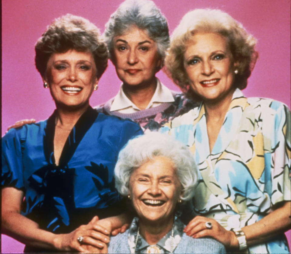 <p>Dorothy, Blanche, Rose, and Sophia are four older single women who share a house in Miami. In an industry where young women and older men dominate the airwaves, it is still uncommon to see a group of older women who aren't minor characters, like grandmothers, with one or two lines. The show hit on many topics that were considered controversial at the time, from assisted suicide to gay marriage to teen pregnancy and, of course, bonding over cheesecake. <i>(Source: Getty Images)</i></p>