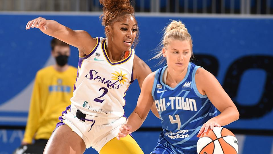 Shyla Heal has been traded and waived out of the WNBA. (Photo by Randy Belice/NBAE via Getty Images)
