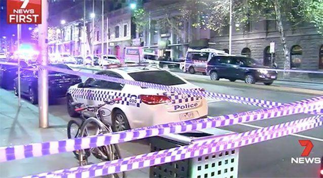A man and woman remain in hospital after their encounter with police at an adult party. Source: 7 News