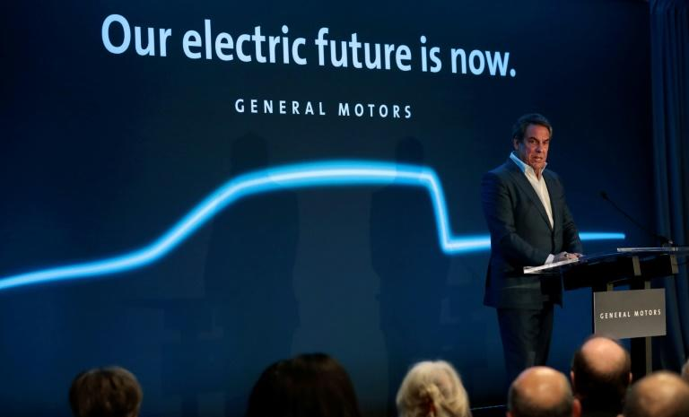 General Motors president Mark Reuss speaks at their Detroit-Hamtramck assembly plant on January 27, 2020 in Detroit, Michigan in the United States (AFP Photo/JEFF KOWALSKY)
