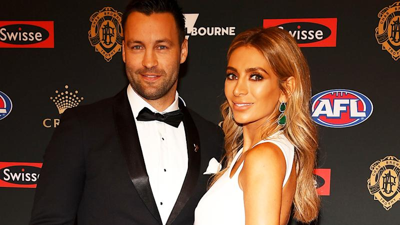 Jimmy and Nadia Bartel, pictured here at the 2018 Brownlow Medal.