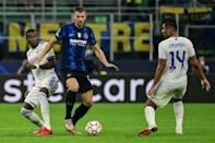 Inter Milan's were hit by a late sucker punch against Real Madrid (AFP/MIGUEL MEDINA)