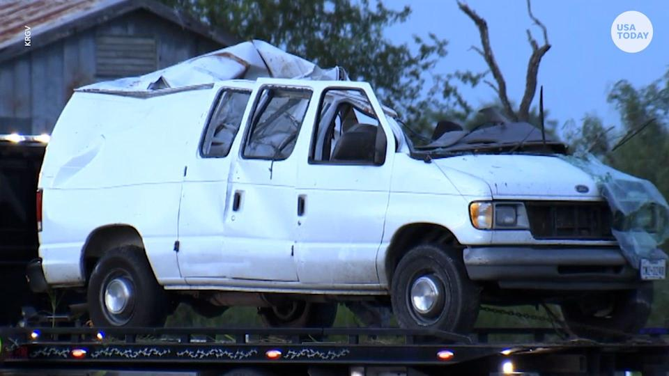 At least 10 people are dead after a van carrying nearly 30 migrants crashed into a utility pole in South Texas.