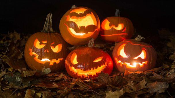 PHOTO: Halloween pumpkins lit by candles. (Martin Deja/Getty Images, FILE)