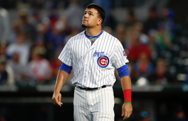 "Are things finally looking up for <a class=""link rapid-noclick-resp"" href=""/mlb/players/9861/"" data-ylk=""slk:Kyle Schwarber"">Kyle Schwarber</a>? (AP)"