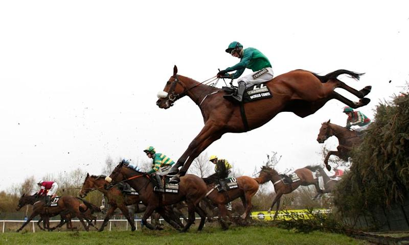 Last year's Grand National. Merseyrail has revised its timetables for Saturday to prioritise people travelling to the Aintree racecourse.