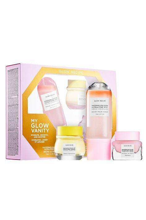 """<p><strong>Glow Recipe</strong></p><p>sephora.com</p><p><strong>$45.00</strong></p><p><a href=""""https://go.redirectingat.com?id=74968X1596630&url=https%3A%2F%2Fwww.sephora.com%2Fproduct%2Fglow-recipe-my-watermelon-glow-vanity-set-P457684&sref=https%3A%2F%2Fwww.oprahmag.com%2Fbeauty%2Fskin-makeup%2Fg32959694%2Fbest-korean-skin-care-products%2F"""" rel=""""nofollow noopener"""" target=""""_blank"""" data-ylk=""""slk:Shop Now"""" class=""""link rapid-noclick-resp"""">Shop Now</a></p><p>This skincare set is the perfect way to sample Glow Recipe's best-selling products all in one. Comprised of the radiance-boosting Watermelon Glow Sleeping Mask, the hydrating Watermelon Glow Ultra-Fine Mist, and the soothing Banana Soufflé Moisture Cream, it's a great intro into the cruelty-free, fruit-friendly K-beauty brand.</p>"""
