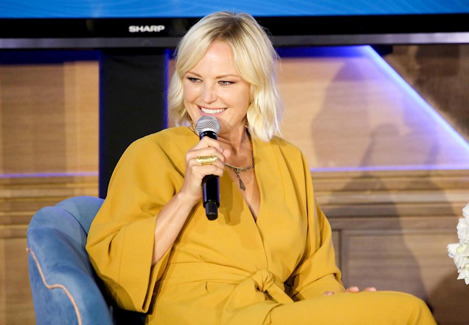 <p>Malin Akerman speaks during the 2021 Environmental Media Association IMPACT Summit, sponsored by Toyota, H&M Foundation & Montage International, at Pendry West Hollywood on Sept. 2.</p>