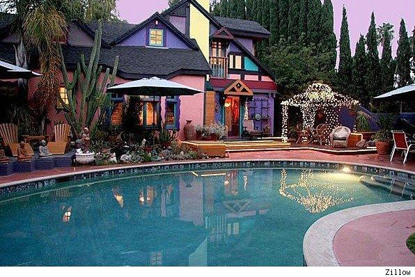 House of the Day Hollywood home colorful Tudor