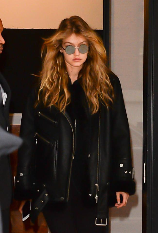 <p>Whether you believe Zayn Malik is Hadid's one true love, you know that the girl isn't made of ice. Could it be the news that her ex Joe Jonas becoming engaged to <em>Game of Thrones</em> star Sophie Turner inspired her new look? We like to imagine this free-flowing rocker style the model sported on a crisp October day was her way of celebrating. (Photo: Getty Images) </p>