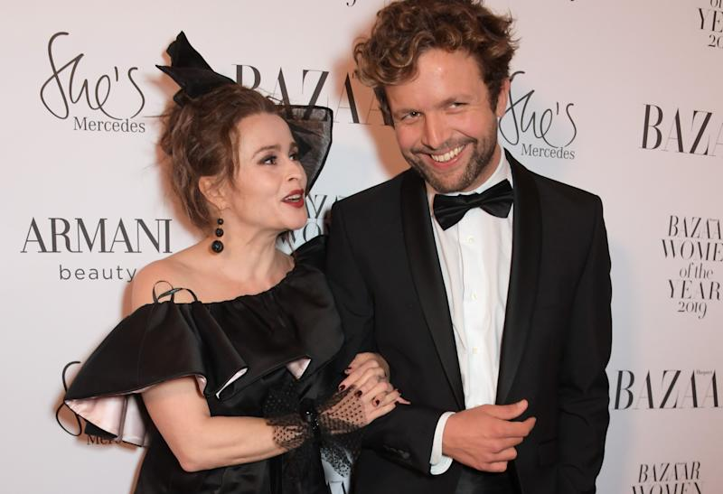 Helena Bonham Carter and Rye Dag Holmboe at the Harper's Bazaar Women of the Year 2019 on October 29th in London (Credit: Getty Images)
