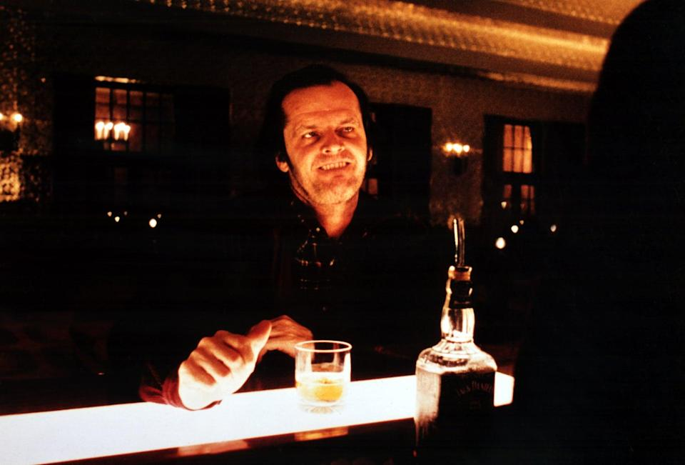 """<p>King famously hates director Stanley Kubrick's adaptation of <strong>The Shining</strong>. However, it's still the absolute scariest film based on King's work ever made. From <a class=""""link rapid-noclick-resp"""" href=""""https://www.popsugar.com/Jack-Nicholson"""" rel=""""nofollow noopener"""" target=""""_blank"""" data-ylk=""""slk:Jack Nicholson"""">Jack Nicholson</a>'s go-for-broke performance as author Jack Torrance to the infamous blood-soaked elevator scene, this movie knows how to get under your skin. The idea that a father could so easily be driven mad is already alarming, and when you add in an isolated hotel full of ghostly twins and a twisty hedge maze, you get one of the most unsettling horror movies ever made. An added bonus? No matter how many times you watch the movie, you'll still find something new to be afraid of.</p>"""