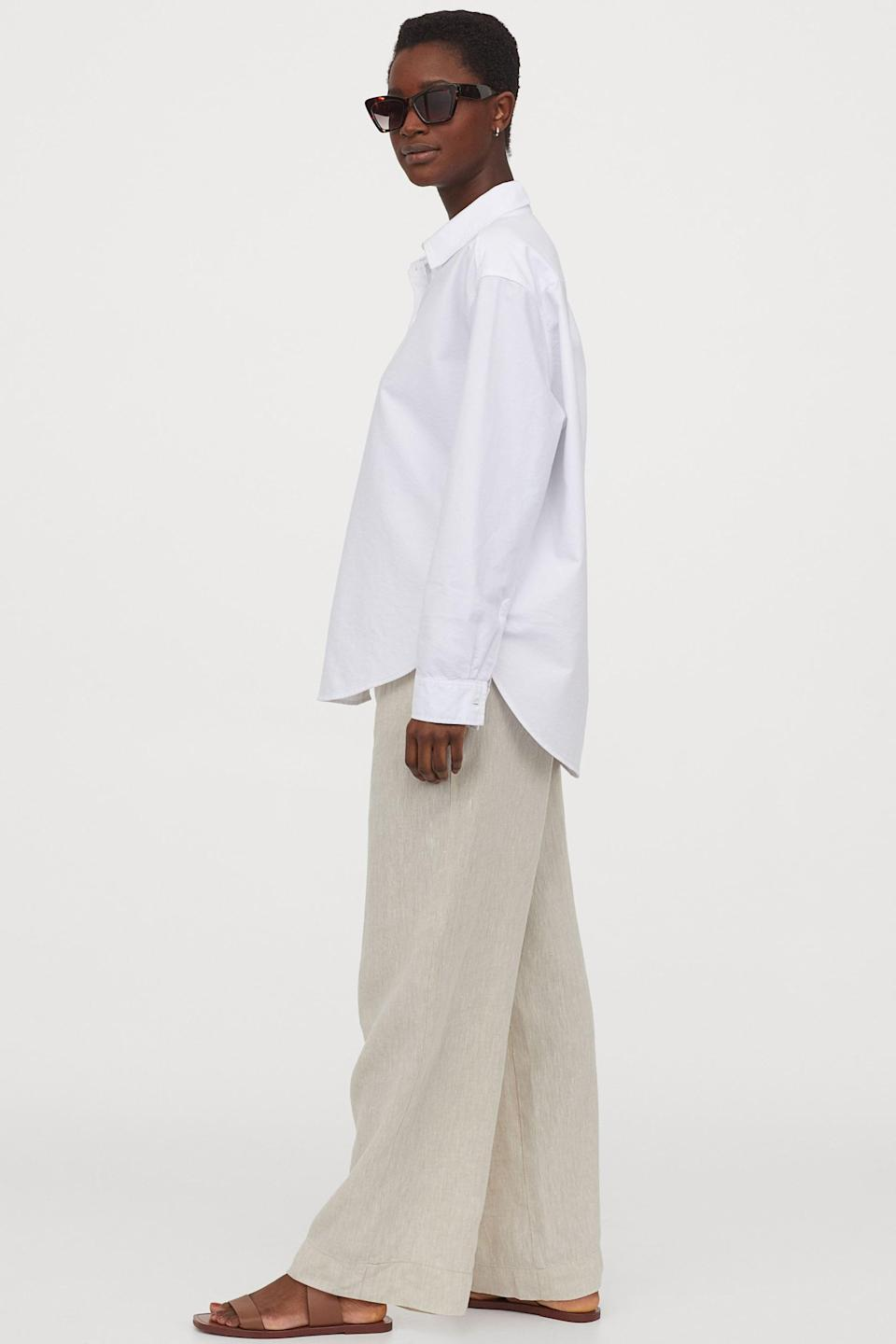<p>Hot days require these <span>H&M Wide-cut Linen Pants</span> ($35).</p>