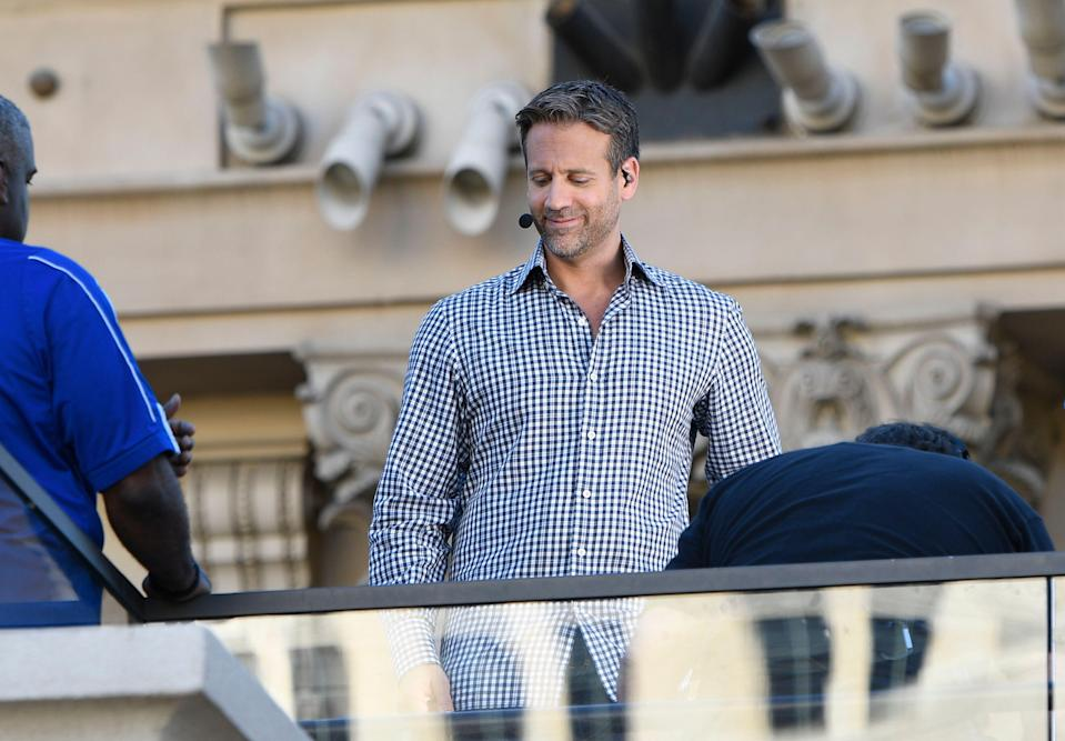 LAS VEGAS, NV - SEPTEMBER 14: Max Kellerman on the set of ESPN's First Take at the Beer Park at The Paris Hotel in Las Vegas, Nevada. September 14, 2018. Credit: Damairs Carter/MediaPunch /IPX