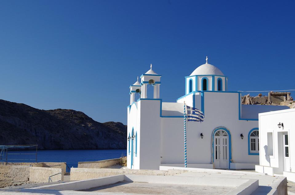 Unique Greek architecture on the island of MilosUNSPLASH