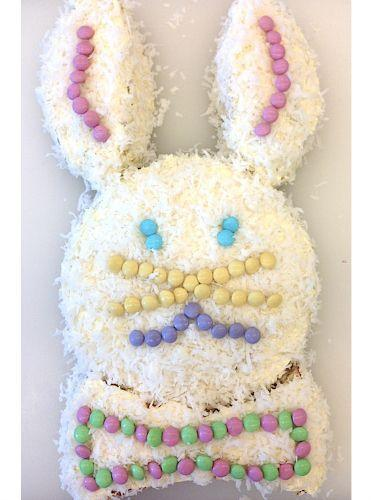 "<p>No need to invest in pricey bunny-shaped molds! With just a couple of round cake pans and a knife, you can make this festive dessert as quick as a bunny.</p><p><a href=""https://www.goodhousekeeping.com/holidays/easter-ideas/g1041/easter-bunny-cake-how-to/"" rel=""nofollow noopener"" target=""_blank"" data-ylk=""slk:Get the recipe for Bunny Cake »"" class=""link rapid-noclick-resp""><em>Get the recipe for Bunny Cake »</em></a></p>"