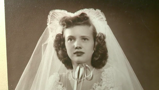 Jane Fine Foster's mom, Jean Nelson, on her wedding day in 1948. (Photo: NBC 11 News)
