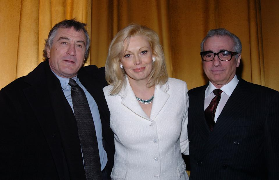 Robert De Niro, Cathy Moriarty and Martin Scorsese (Photo by Theo Wargo/WireImage for MGM )