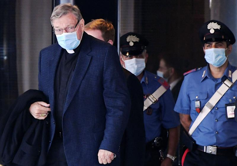Former Vatican treasurer George Pell arrives after travelling for first time since he was acquitted of child sex abuse charges in Australia, at Rome's Fiumicino Airport, September 30, 2020. REUTERS/Alberto Lingria (Photo: Alberto Lingria / Reuters)