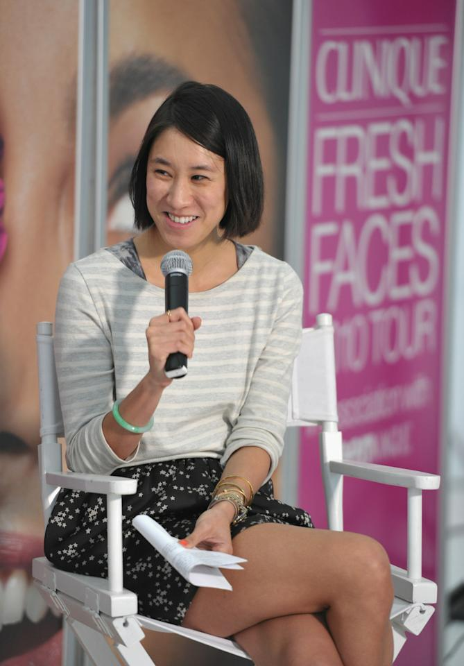 LOS ANGELES, CA - NOVEMBER 08:  Teen Vogue Beauty and Health Director Eva Chen hosts Career Panel Discussion at the Clinique Fresh Faces Tour at University of Southern California on November 8, 2010 in Los Angeles, California.  (Photo by John Shearer/Getty Images for Clinique)