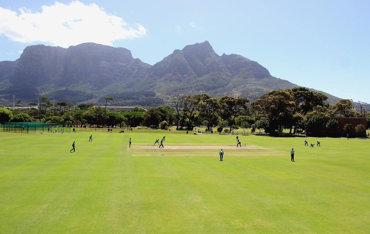 CAPE TOWN, SOUTH AFRICA - FEBRUARY 15: General view of action during the 2nd U/19 Youth One Day International match between South Africa and England at Bellville Cricket Club on February 15, 2013 in Cape Town, South Africa. (Photo by Grant Pitcher/Gallo Images/Getty Images)