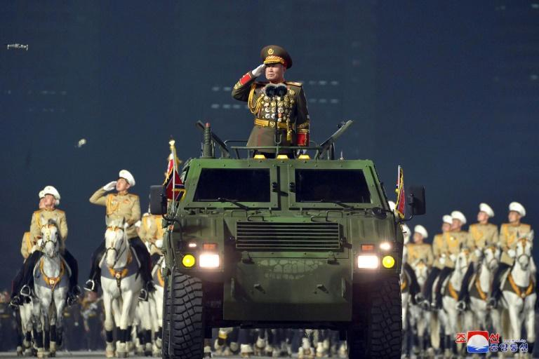 The launch of the new missile was watched by top official Pak Jong Chon, seen here at a parade in January (AFP/-)