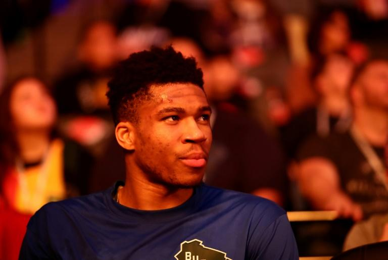Dominant: Giannis Antetokounmpo scored 37 points in less than 22 minutes on court in the Milwaukee Bucks' 128-102 NBA victory over the New York Knicks