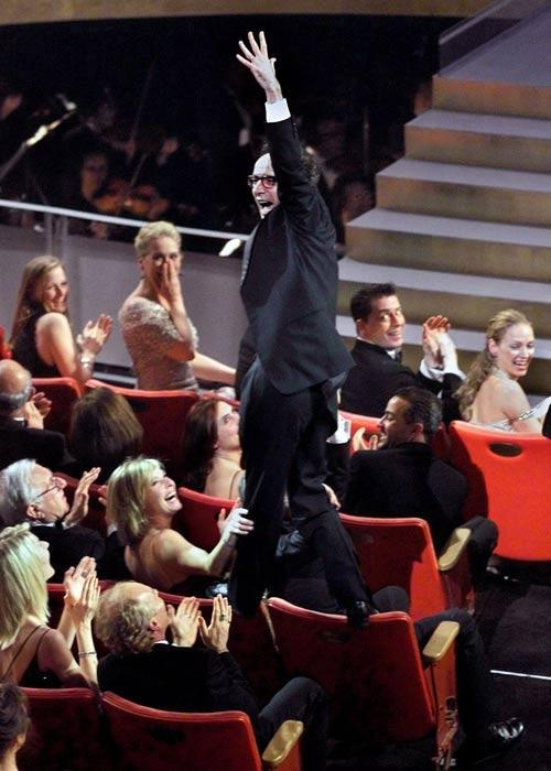 Who could forget Roberto Benigni's acrobatics at the 1998 Oscars? Benigni made his way to the stage by climbing on the back of chairs to accept his Best Actor award.