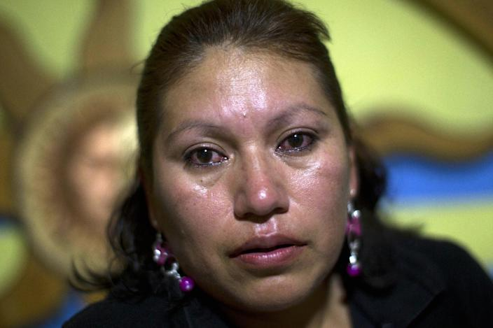 Amelia Reyes-Jimenez pauses as she talks about her children to the Associated Press at her sister's home in Zapopan, Mexico, Friday, Aug. 17, 2012. Reyes-Jimenez carried her blind and partly paralyzed baby boy, Cesar, across the Mexican border in 1995 seeking better medical care. She settled in Phoenix illegally and had three more children, all American citizens. In 2008 she was arrested after her disabled teen son was found home alone. Locked up in detention, clueless as to her rights or what was happening to her children, she pleaded guilty to child endangerment charges, and then spent two years trying to fight for her right to stay with her children. She lost and was deported back to Mexico without her children in 2010.(AP Photo/Dario Lopez-Mills)