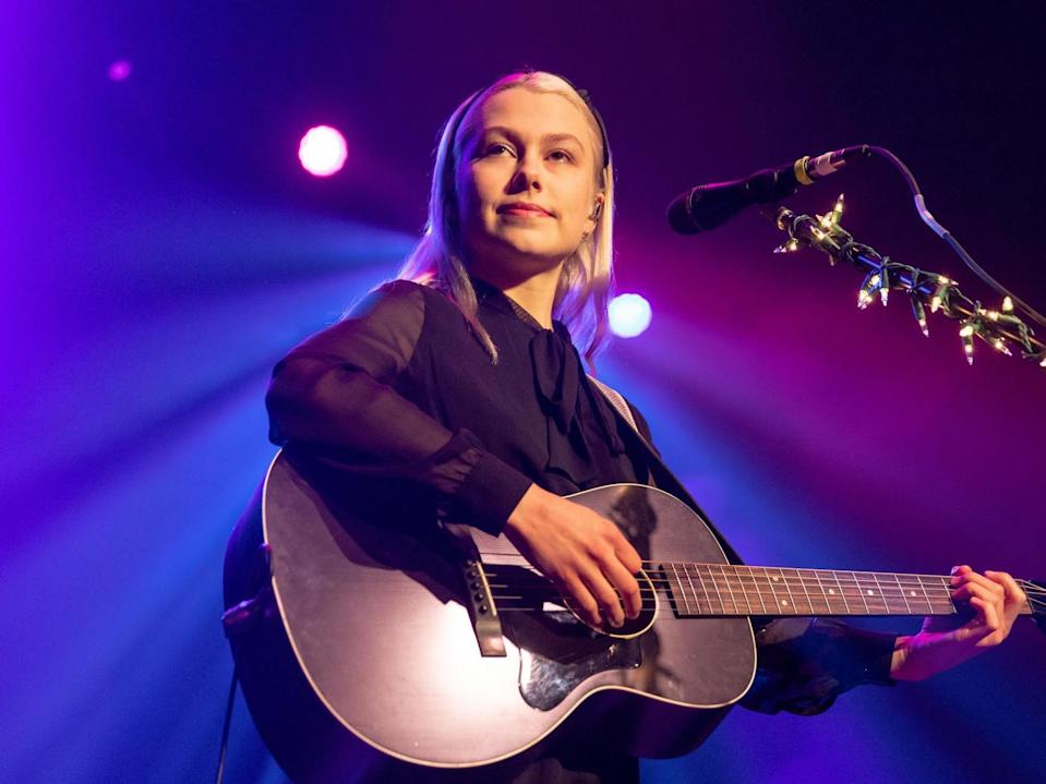 <p>PhoebeBridgersfinds she can still connect with fans from home</p> (Rex Features)