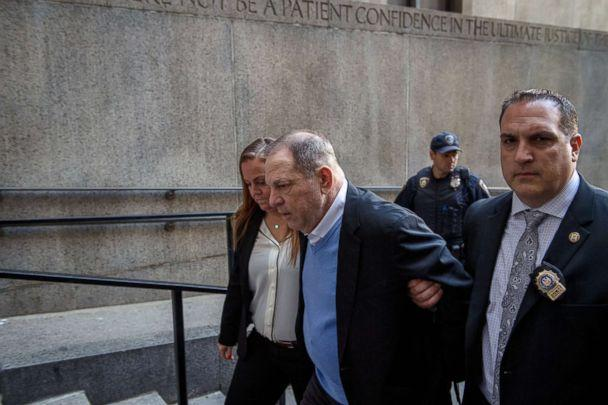 PHOTO: A handcuffed Harvey Weinstein is led into criminal court in lower Manhattan for arraignment on May 25, 2018. (Hilary Swift/The New York Times via Redux, FILE)